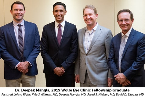 Iowa Vitreoretinal Diseases and Surgery Fellowship at Wolfe Eye Clinic graduate, Dr. Deepak Mangla and retina specialists.
