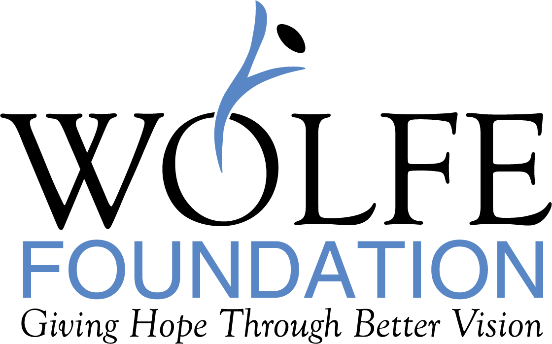 Wolfe Foundation logo and tagline Giving Hope Through Better Vision