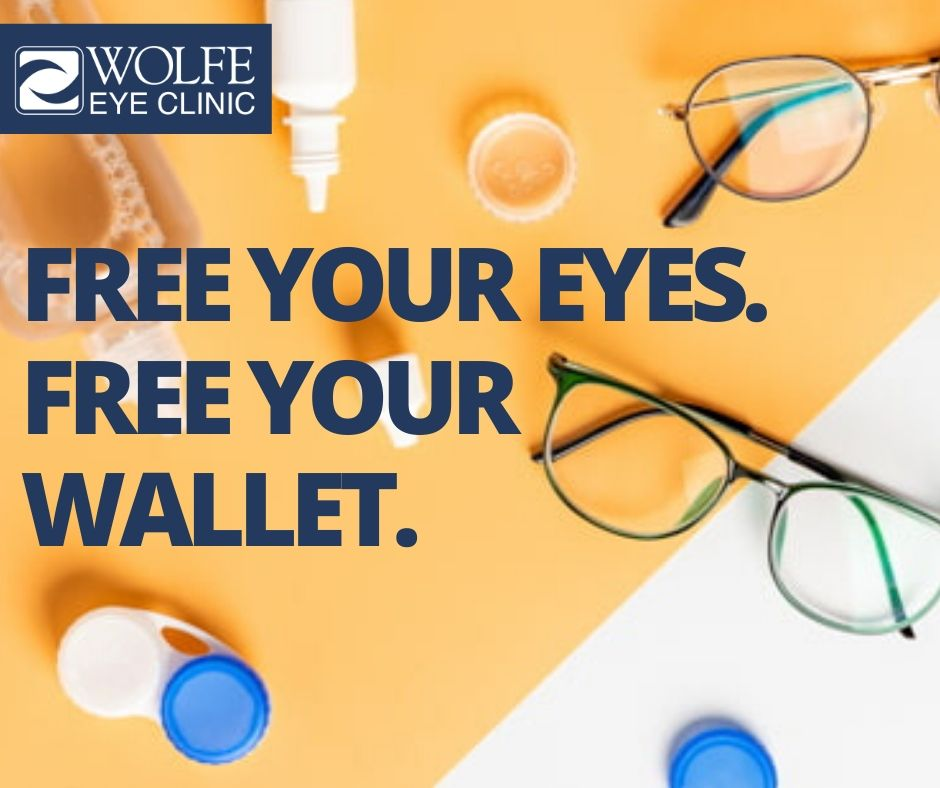 Save money with LASIK to free your eyes and wallet from the expenses of contacts and eyeglasses.